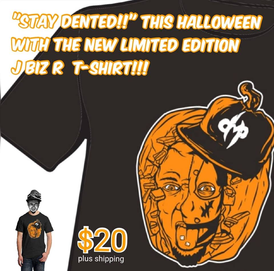 J Biz R halloween tshirt flyer 2