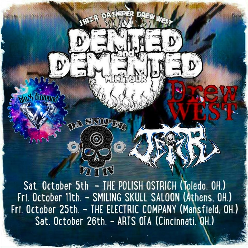 Dented n Demented tour flyer