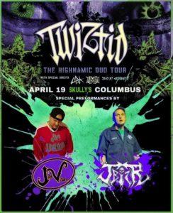 J Biz R and Villain TWIZTID flyer