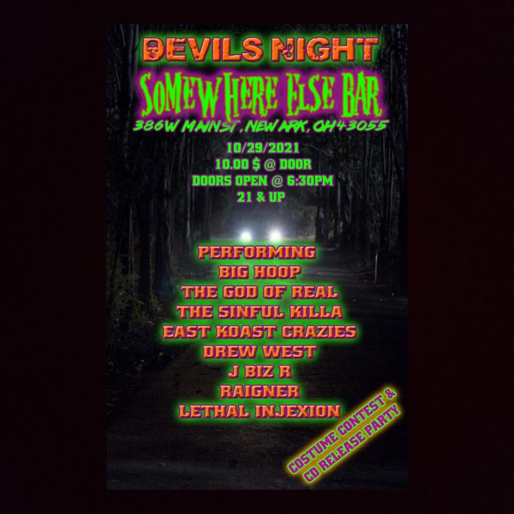 Newark Halloween show flyer